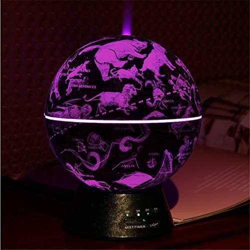 Antiken Stil Globe Glowing World Globe, 3-in-1-Globus und Konstellation Eingebaute LED-Beleuchtung Nachtszene Stummes Schlafzimmer Ultraschall-Luftreiniger Bildung Welt Globale Geschenke Home Desk Dec (Yoga Stationären)