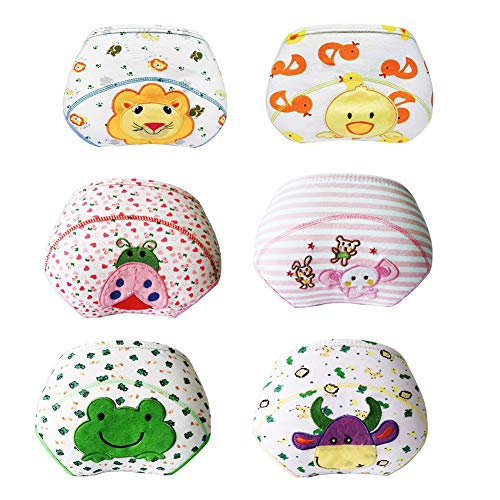 Lazzon Baby Jungen Mädchen Töpfchentraining Unterwäsche Baumwolle Waschbar Trainerhosen Unterhosen für Baby 1 bis 3 Jahre