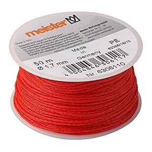 Meister cuerda 50m x diámetro 1,7mm, Rojo, PE, 6306110