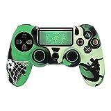 Hama 7-in-1 Zubehör Set (für PS4/PS4 Slim/PS4 Pro Soccer für Dualshock 4 Controller, Fußball Design, Skin Silikonhülle, Stick-Aufsätze, Touchpad Schutzfolie, Lightbar Sticker, thematisch passend für FIFA 17) custom grün