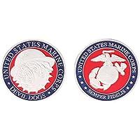 Chuhe pièce commémorative US Marine Corps américain Diable Chiens Collection Arts souvenir 3.8cm Silver