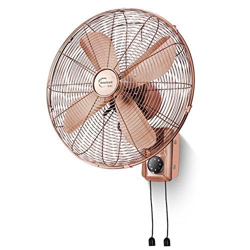 Fans -CivilWea 16-Zoll-Ventilator/Klassische Wand-Ventilator/Wohnzimmer Wand-Energiesparventilator/kommerzielle Metallventilator/DREI verstellbare europäischen Stil Schüttelkopf Luftvolumen Fan