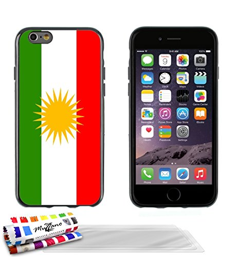 Ultraflache weiche Schutzhülle APPLE IPHONE 6 PLUS 5.5 POUCES [Flagge Kurdistan] [Lila] von MUZZANO + STIFT und MICROFASERTUCH MUZZANO® GRATIS - Das ULTIMATIVE, ELEGANTE UND LANGLEBIGE Schutz-Case für Schwarz + 3 Displayschutzfolien