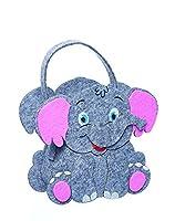 Baby Elephant - Felt Gift Bag - Felt Basket