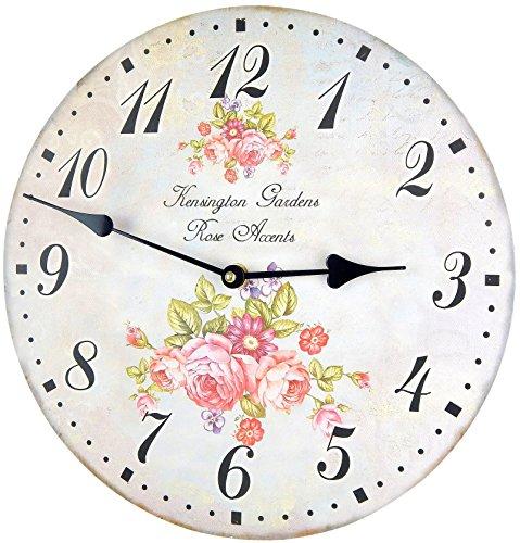 Horloge Murale Vintage Fleurs