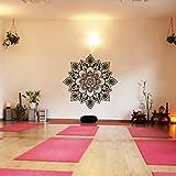 "Namaste Flores Mandala Pared Adhesivo Lotus Yoga adhesivo decorativo de Religi?Se de vinilo adhesivo sintética, vinilo, custom, 46""hx46""w"