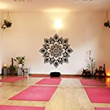 Blume des Lebens Vinyl Wandtattoo Namaste Blumen Muster Wand-Aufkleber decoration fur Yoga zimmer(X-Large,Custom)