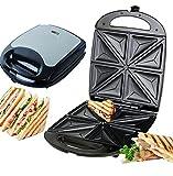 XXL 4er Sandwichmaker Edelstahl Sandwichtoaster für 4 Sandwiches 1.100 Watt Anti-Haft