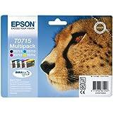 Epson T0715 Tintenpatrone Gepard, Multipack 4-farbig