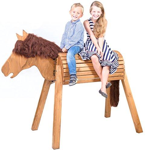 Wildkinder Holzpferd/Voltigierpferd | Riesen Spielpferd XXL handgefertigt in Deutschland