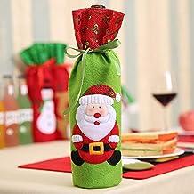 Fjiujin,Bolsas de Botella de Licor Creativo Decoradas por la Fiesta Familiar en Navidad(