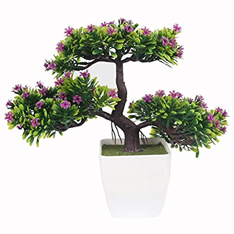 JAROWN Artificial Flowers and Plants Plastic Pine Tree with Pot