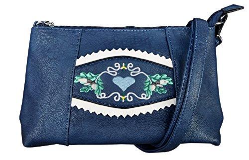 LS Damen Trachtentasche Dirndltasche 6706 (Blau)