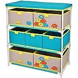 Promobo Mueble Estantería, 7 cajones, para habitación infantil, diseño de monstruos