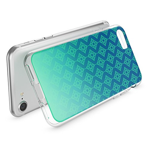 iPhone 8 / 7 Coque Protection de NICA, Housse Motif Silicone Portable Case Cover Transparente, Ultra-Fine Souple Gel Slim Bumper Etui pour Telephone Apple iPhone-7 / 8, Designs:Bird Princess Pattern Vert