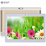 gimtvtion BDF 25,4 cm Tablet Android 6.0, Quad Core 1,3 GHz, 5,0 MP Dual Kamera, Bluetooth 4.0, 2 + 16GB, WiFi, GMS, entriegelt Dual Sim GSM/WCDMA, 2G/3G Phone Call Phablet gold gold