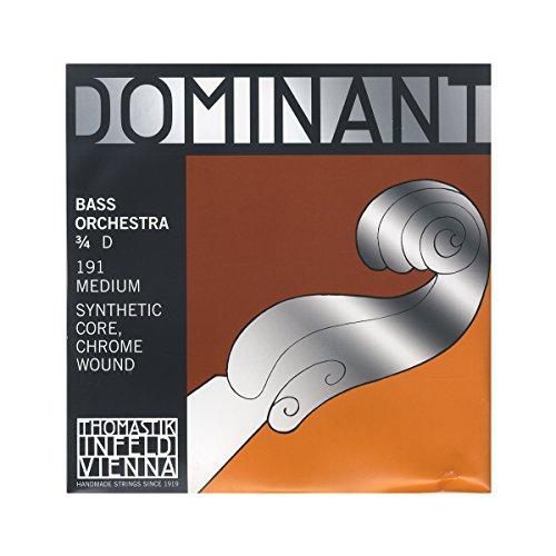Thomastik Saiten für Kontrabass Dominant Nylonkern Orchesterstimmung. 3/4; D x