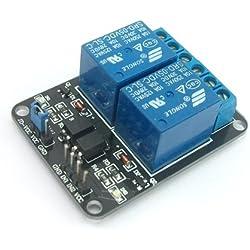 SainSmart Tarjeta de módulo de relé de 2 canales 5V para módulos de relé Arduino PIC AVR DSP MCU