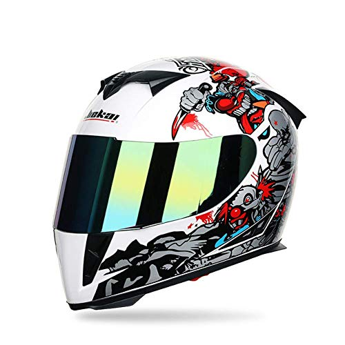 Ocean Pacific Mountain Full Face Moto Casco Bicicletta off-Road ATV Kart Casco off-Road Casco da corsaMeni e Coppie di Donne,A,M