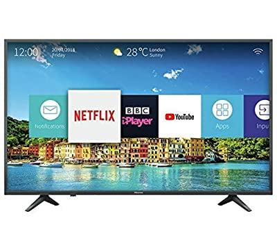 Hisense 50 Inch H50A6250 Smart 4K UHD LED TV with HDR and USB Recording and Video Playback - Freeview Play (Certified Refurbished)