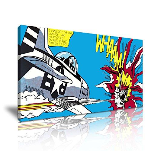 Whaam! Dogfight Roy Lichtenstein Pop Art Leinwand Kunstdruck Bild 82x 41cm