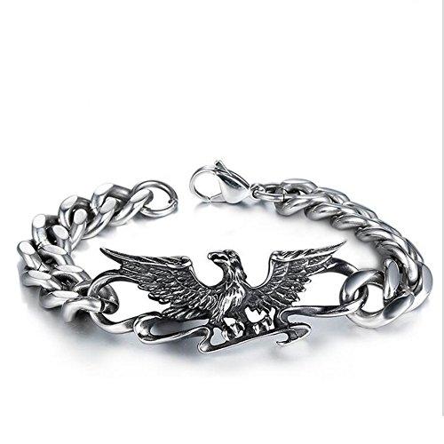 L Y Armband Persönlichkeit Eagle Edelstahlguss-Armband Herrschafts Retro Eagle Wing Männer Titan Stahl Armband -