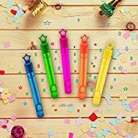 ASPIRE UK 40 - Piece Colour Neon Star Bubble Wands Assortment ,Party Favours Toy For Kids ,Celebrations , Birthdays,Wedding Parties,Outdoor Summer Games Gift For All Kids & Adults ,Great Fun