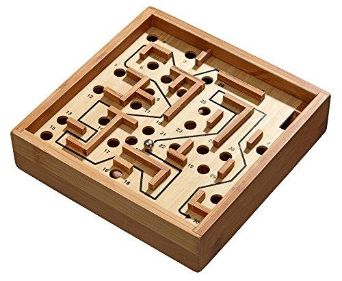 Philos 3194 - Labyrinth, klein, Bambus, Green Games, Geschicklichkeitsspiel