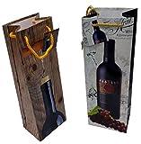 6 Stück Geschenktüten 36 x 12cm, Geschenktaschen für Flaschen, Motiv Weinflaschen (6 x Flaschen)