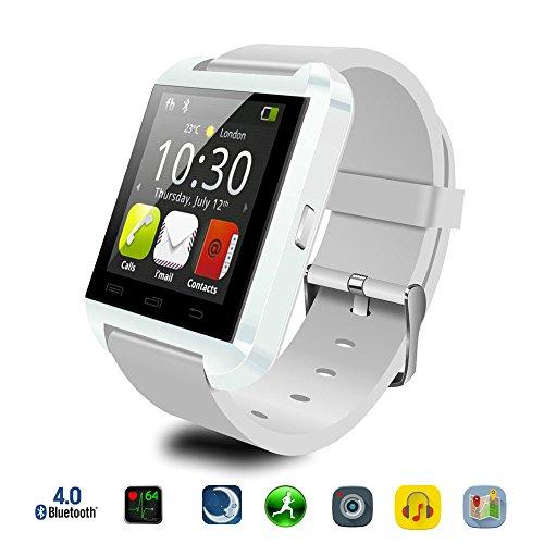 U8 Smartwatch für iOS und Android, Joymixx bluetooth 4.0 Armband Armband mit Musik-Player / Schrittzähler / Nachricht / Fernkamera / Anruf Erinnerung / Anti-verloren, 1,44 Zoll Touchscreen, U8 Fitness Tracker, für Kinder, Jungen, Mädchen, Männer, Frauen (Weiß)