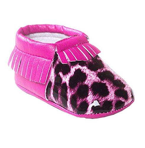 Bebê Únicos 2 ® Star Rosa Bebê Sapatos Suaves Lucky Sapatos 2 De Borla 13cm Yuan Couro De Bonito xYtawWCWqU