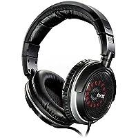LyxPro oeh-10Open Back auriculares Hi Fi Audiophile–Auriculares de diadema cómoda, intercambiables con espuma/tela almohadillas para los oídos de cuero