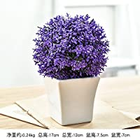 KPHY Modern simple flowerpots emulation green plants artificial flowers potted plants pastoral home furnishings desktop decorations offices living rooms decorations. Violet