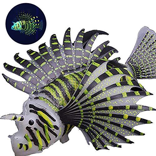 Angoter Artificial Peces Tropicales Que Brilla Adorno De Silicona Flotante Falso Peces De Acuario Decorativo para El Tanque De Pescados