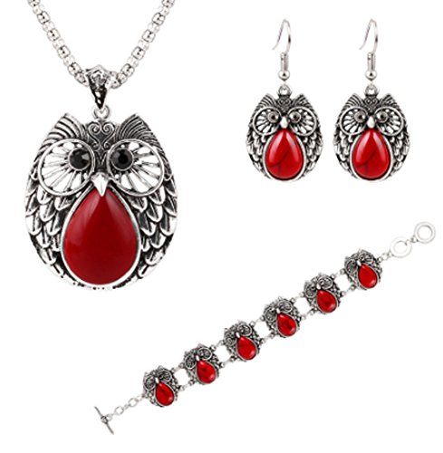 saysure-owl-jewelry-sets-silver-plated-turquoise