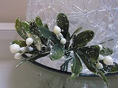 3 x Beautiful White Berry Mistletoe Spray