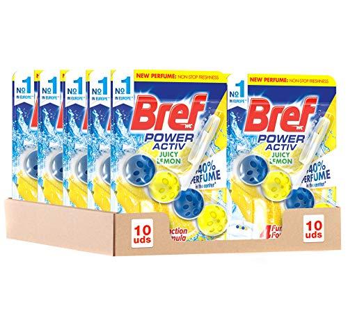 10 cestas higiénicas para WC Bref Power Activ Limón por 9,99€ ¡¡21% de descuento!!
