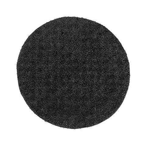 Uni Hochflor Shaggy Teppich Einfarbig Schwarz Neu Öko Tex 160x160 cm Rund