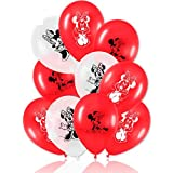 8 Luftballons * MINNIE MOUSE * für den Kindergeburtstag oder Party // mit 75cm Umfang // Luftballon Ballons Deko Motto Kinderparty Minni Maus