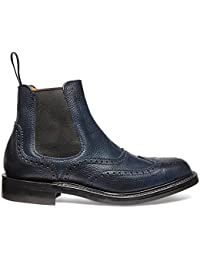 190503165a7b Cheaney Victoria R Ladies Wingcap Brogue Chelsea Boot in Navy Grain Leather