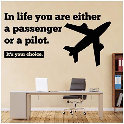 azutura Passagier oder Pilot Inspirierend Zitat Wandtattoo verfügbar in 5 Größen und 25 Farben EIS Blau - Eis-piloten