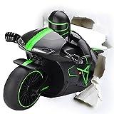 powerlead RC Motorrad 2.4GHz 4CH vollmensur Elektrische Fernbedienung Off Road Motorrad mit hellen LED-Scheinwerfer