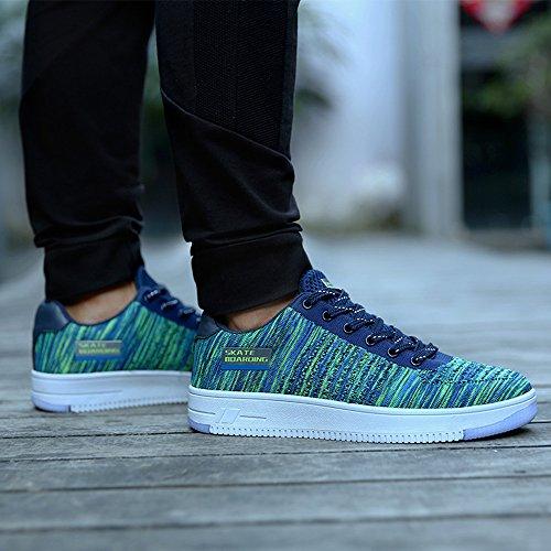 Homme Femme Chaussures de Sport Skateboard Baskets Basses Running Confort Sneakers Noir Blanc Vert Vert