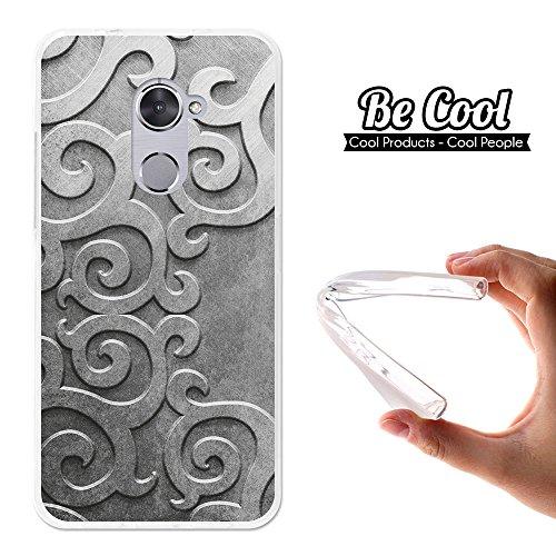 Becool® - Funda Gel Flexible para Vodafone Smart V8, Carcasa TPU fabricada con la mejor Silicona, protege y se adapta a la perfección a tu Smartphone y con nuestro exclusivo diseño. Filigranas metálicas.