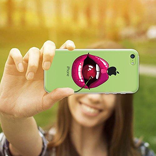 iPhone 5C Hülle, WoowCase® [ Hybrid ] Handyhülle PC + Silikon für [ iPhone 5C ] Indische Pferde Sammlung Tier Designs Handytasche Handy Cover Case Schutzhülle - Transparent Hybrid Hülle iPhone 5C D0137