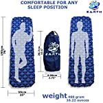 Wild Earth Ultra Lightweight Inflatable Sleeping pad Camping Roll Mat Sleep Pad 4