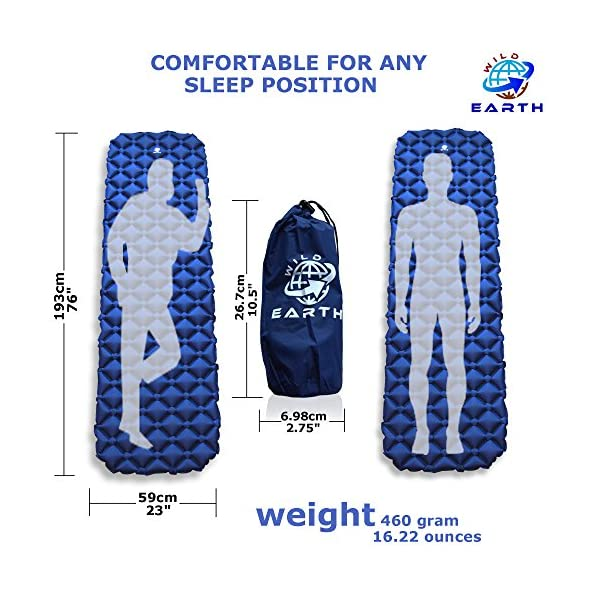Wild Earth Ultra Lightweight Inflatable Sleeping pad Camping Roll Mat Sleep Pad 2
