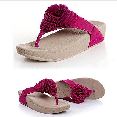 Donne sandali Pantofole Donna Pantofole Pattini a Heel Pattini Casual Piumini Rosa, Rosso Confortevole ( Colore : Rosa , dimensioni : EU39/UK6.5/CN40 ) Rosa