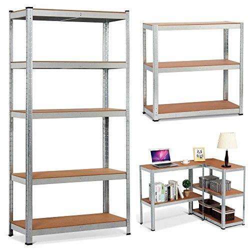 *Yaheetech XL Lagerregal Kellerregal Werkstattregal Regal verzinkt belastbar bis 175kg, Größe: 180 x 90 x 40 cm*