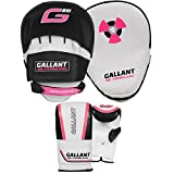 Gallant Ladies Pink Boxing Bag Gloves and Focus Pads Mitts Set Hook and Jab Womens Training Martial Arts